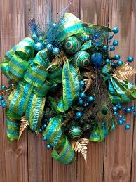 Peacock Blue Christmas Decorations by 131 Best Teal Christmas Images On Pinterest Turquoise Christmas