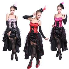 Dancer Halloween Costume Moulin Rouge Showgirl Dancer Fancy Dress Costume