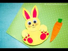 Easy Paper Craft Ideas For Kids - rocking paper rabbit craft easy paper craft ideas for kids