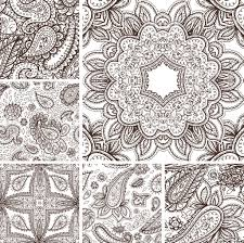 floral mehendi pattern ornament vector illustration hand drawn