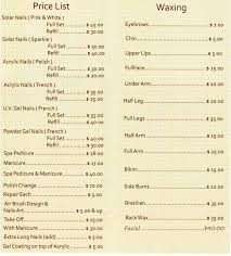 176 best nail salon price list designs images on pinterest nail