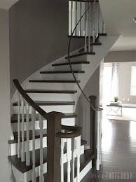Staircase Renovation Ideas Curved Staircase Remodel Before U0026 After Pink Little