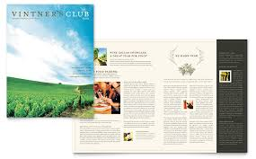 wine brochure template vineyard winery newsletter template word publisher