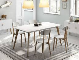 White And Oak Dining Table Dining Chair Design Also Dining Tables Outstanding White Wood