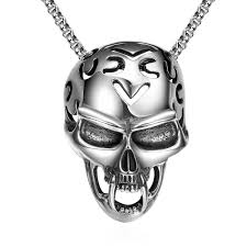 silver skull pendant necklace images Skull pendant necklace euphorium jewelry jpg
