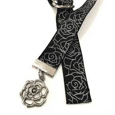 silver roses silver roses book buckle bookmark