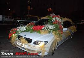 indian wedding car decoration big indian wedding cars team bhp