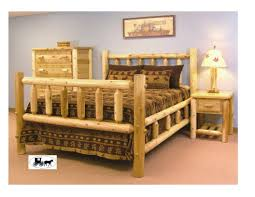 Log Cabin Bedroom Furniture by Bedroom Castlecreek Cedar Log Queen Bedroom Sets At Astounding