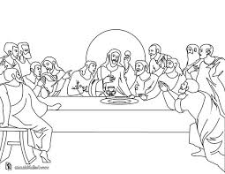 Jesus And His Twelve Disciples In Last Supper Coloring Page Jesus Last Supper Coloring Page