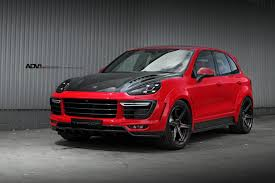 Porsche Cayenne Rims - red porsche cayenne adv6 m v2 sl wheels brushed liquid smoke