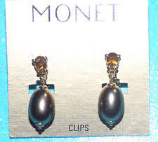 monet earrings monet pearl fashion earrings ebay