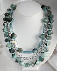 light blue statement necklace chunky light blue agate statement necklace by 123gemstones on zibbet