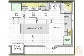 kitchen floor plans with island various kitchen layouts with island brucall layout