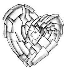 pencil drawings of hearts how to draw an impossible heart