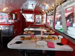 London Bus Interior Inside The Bus Picture Of B Bakery Afternoon Tea Bus Tour