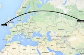 As The Crow Flies Map Connacht Facing 12 000km Round Trip To Siberia In The European