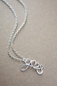 initials jewelry two initials necklace with a heart sterling silver 925