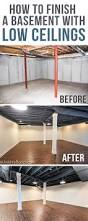 How To Build A Bathroom In Basement 11 Doable Ways To Diy A Basement Ceiling Basement Ceilings