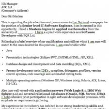 software engineer cover letter example resumedoc