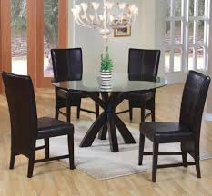 Good Glass Dining Room Table Set On Old Fashioned Large Dining - Black round dining room table