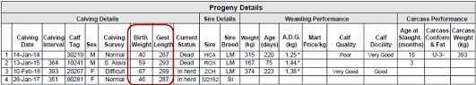 Sheep Gestation Table Herdplus Suckler Cow Report Updates Icbf