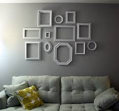Grey And White Wall Decor Empty Picture Frames Stylish Wall Decoration Ideas Empty