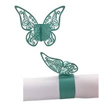 amazon com 50 pcs delicate butterfly pattern paper napkin rings