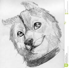 cute puppy sketch stock illustration image 45089196