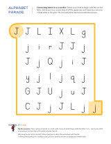 letter j worksheets sparks