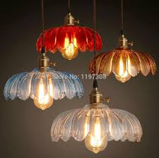 colored glass pendant lights restaurant droplight rh loft nord ikea american industrial retro