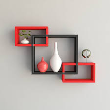 Home Decor Shelf by Set Of 3 Rectangular Intersecting Floating Shelves Wall For