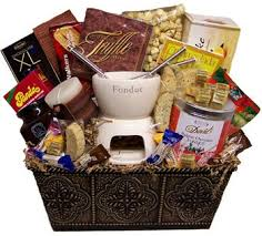 date basket ideas fondue gift basket yum gift ideas fondue