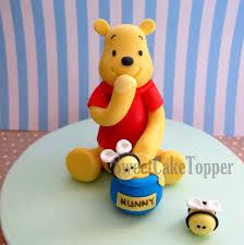 winnie the pooh cake topper winnie the pooh inspired fondant cake topper handmade