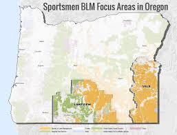 Klamath Falls Oregon Map by Oregon Theodore Roosevelt Conservation Partnership