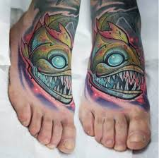 colorful foot tattoo by kati berinkey inked inkedmag tattoo