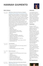Resume Sample For Pharmacy Technician by Veterinary Resume Samples Visualcv Resume Samples Database