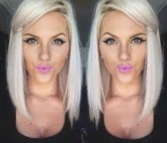 lob hairstyles platinum blonde lob hairstyle for women pretty designs
