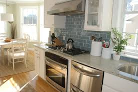 Country Kitchen Backsplash Tiles Country Style White Kitchen Design With Grey Subway Tile