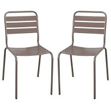 chaise jardin aluminium chaise de jardin en acier horenove