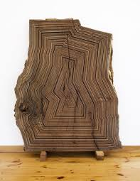 geometric wood sculpture jason middlebrook uses recycled wood to produce striking geometric