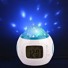 light projection alarm clock amazon com geekdigg projection alarm clock led night light