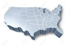 United States Map Without Labels by United States Map 3d Stock Images Royaltyfree Images Vectors Us