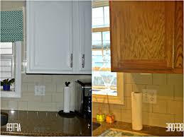Painting Oak Kitchen Cabinets by Painting Oak Kitchen Cabinets White Before And After Ideas For