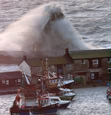 Portland Flooding Map by Storms Red Alert Britain U0027s Coast Battered By 30ft Waves High