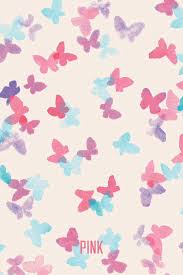 wallpaper iphone tumblr pink mixerlittlegirl butterfly pink vs wallpaper on we heart it http