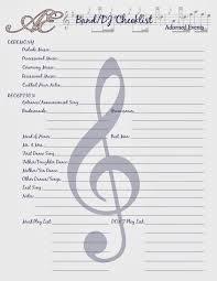 wedding plans keep your wedding plans in order with this handy dj band checklist