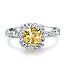 aliexpress buy new arrival hight quality white gold 3 carat white gold yellow cushion cut authentic diamond women
