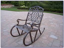 Old Metal Patio Furniture Old Metal Outdoor Rocking Chairs Chairs Home Design Ideas