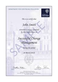 successful change management oxford university department for