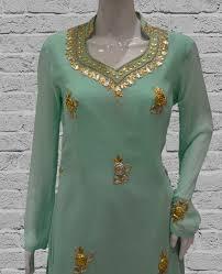 light green georgette kurta